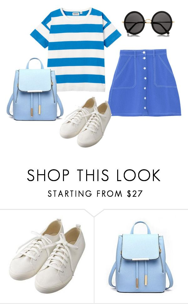 """""""It's all blue"""" by noora-j ❤ liked on Polyvore featuring Muji and The Row"""