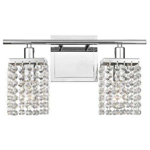 The 25 best crystal bathroom lighting ideas on pinterest 2 light crystal bathroom vanity light aloadofball Choice Image