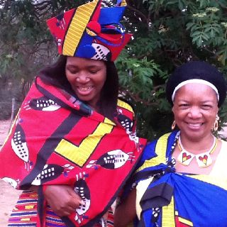 Me and Tsepiso during the big day