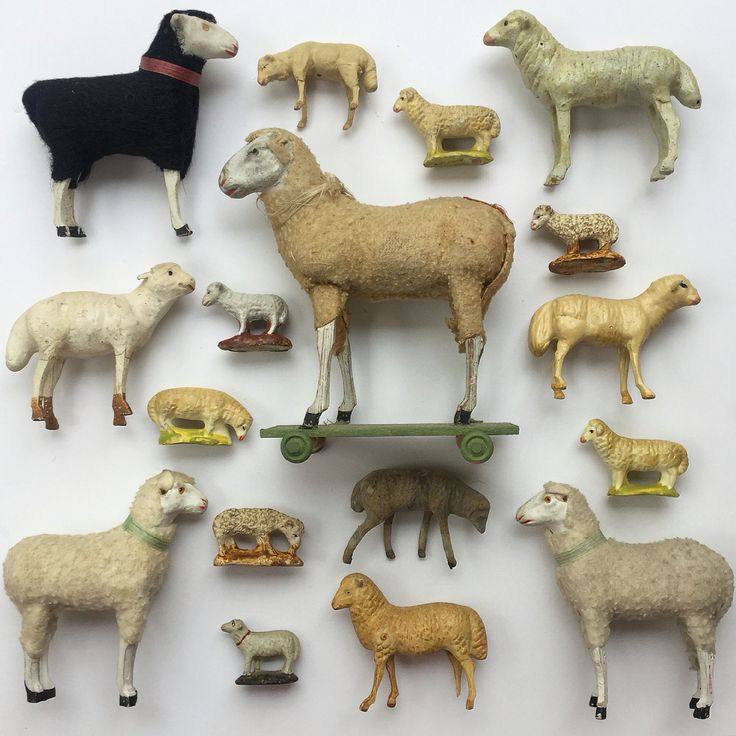 My collection of antique lambs.