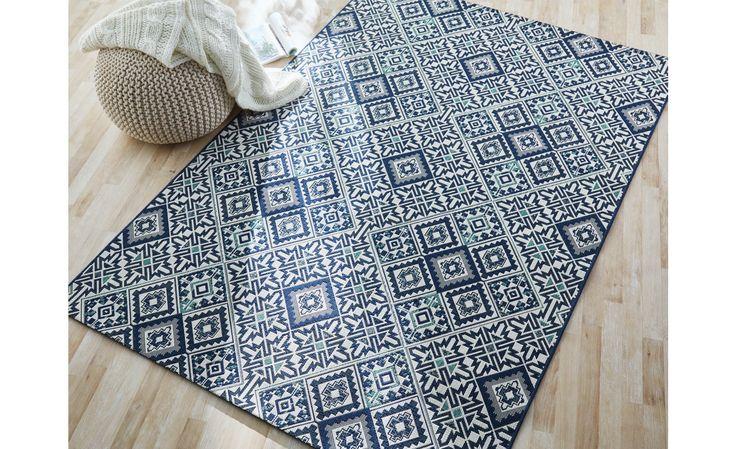 Tapis ARCHEO, motif carreaux de ciment -  Saint Maclou - 80€