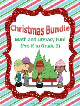 This 60-page Christmas-themed bundle has a great variety of activities for Pre-K to Grade 2 levels. The activities are provided with both the Canadian and the American spellings. To include students who do not celebrate Christmas, there are some activities with a winter theme instead. $10