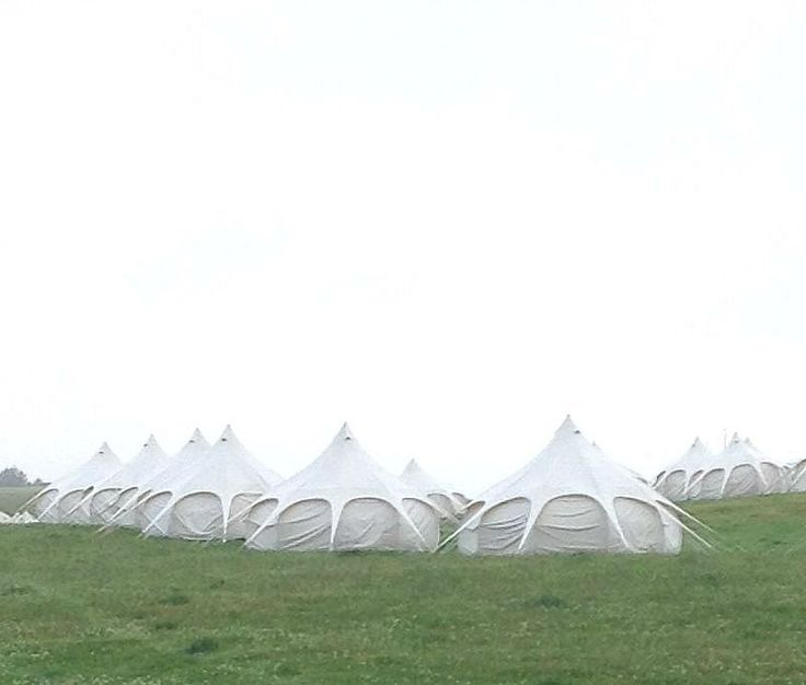 Yurts at Wickerman Festival 2013
