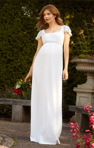 Lorelei Beaded Maternity Wedding Gown Ivory by Tiffany Rose
