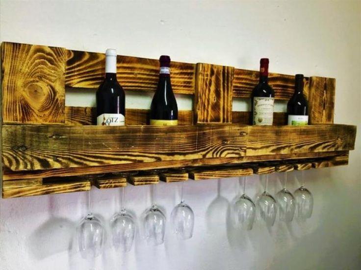 Gebrauchte Euro-Paletten werden zu naturbelassenen Upcycling-Unikaten aufbereitet. Die ökologischen...,Paletten-Wein-Bar Regal Vintage Palettenmöbel in Niedersachsen - Hessisch Oldendorf