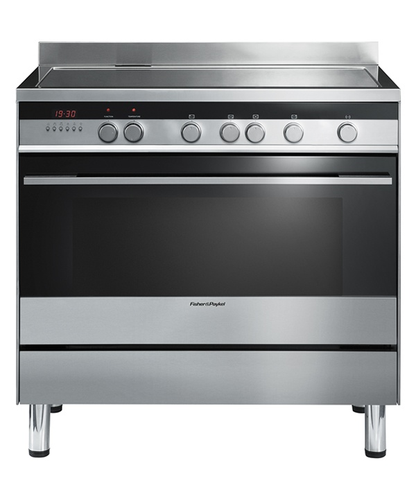 90cm Freestanding Cooker  OR90SDBSIX1  Brushed Stainless Steel4-Zone Induction Cooktop + Electric Oven  $3879 at savvyappliances.com.au