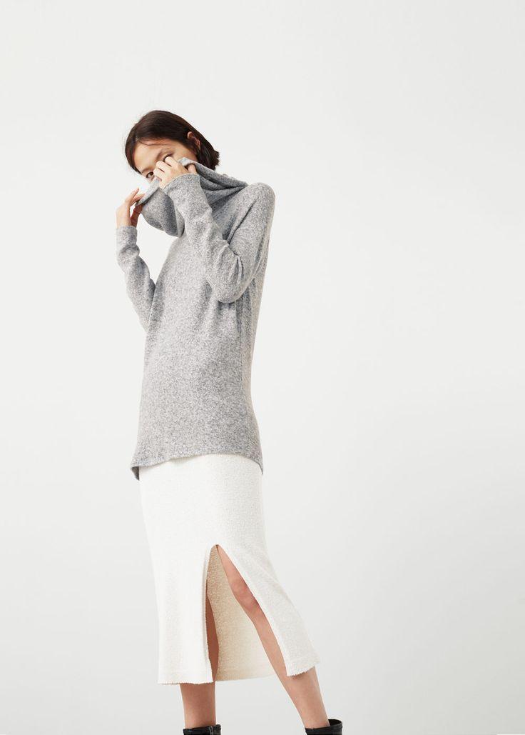 Open neck sweater | MANGO