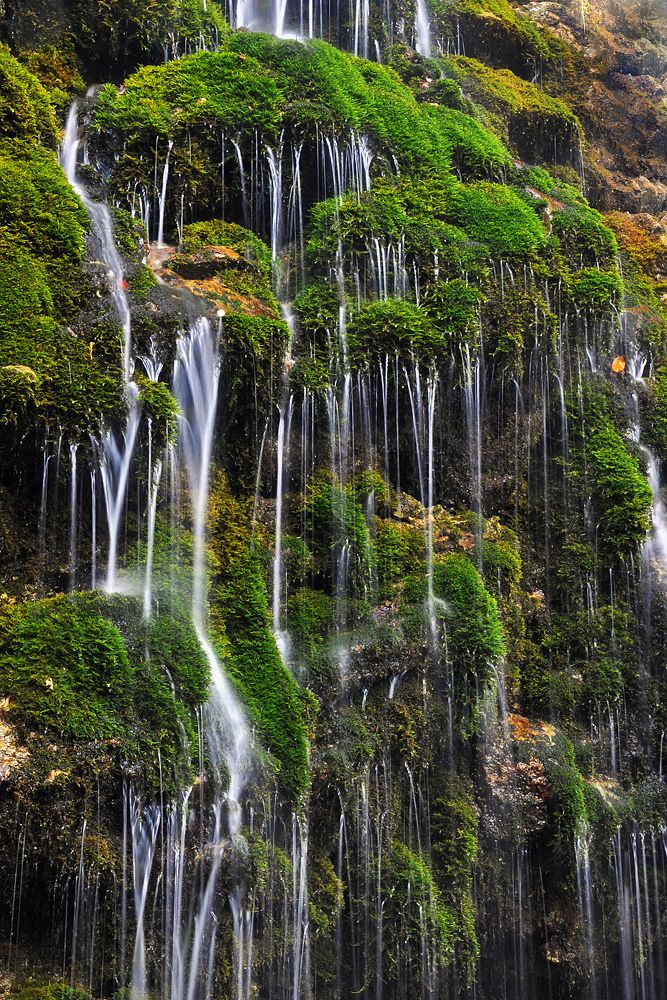 Exotic little waterfall in Romania