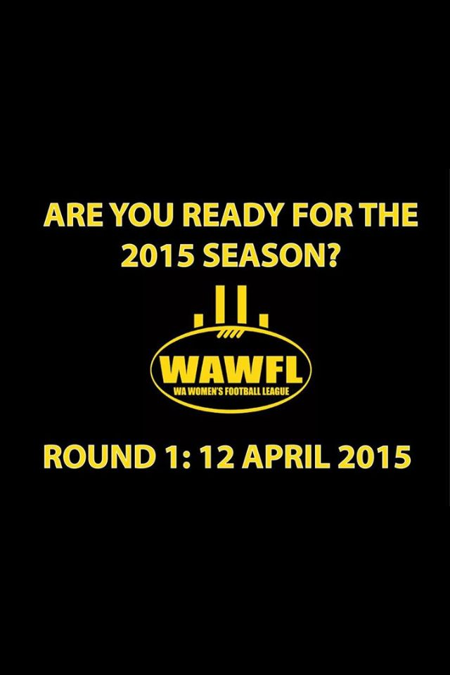 Wooooo!!! Yay!!! FOOTBALL!! Bring on 2015 season.. Women can play AFL too!