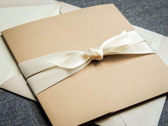 Fall Wedding Invitations Rustic Wedding by JulieHananDesign