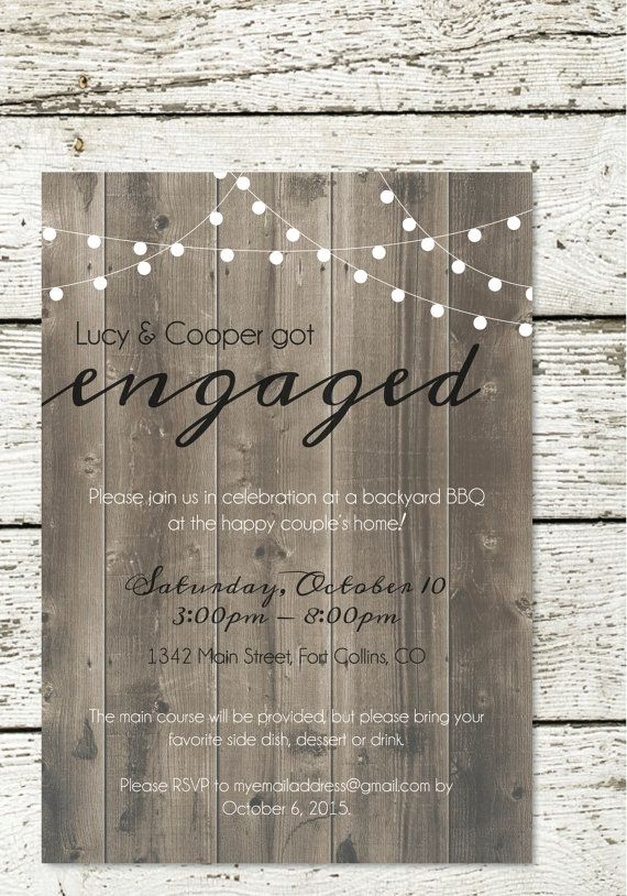 Elegant Backyard BBQ Engagement Party by DesignsbyAbbyLeigh