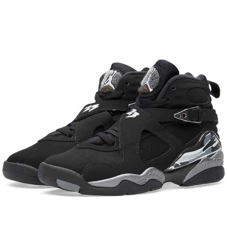 Nike Air Jordan VIII 'Chrome' (Black, White & Light Granite)