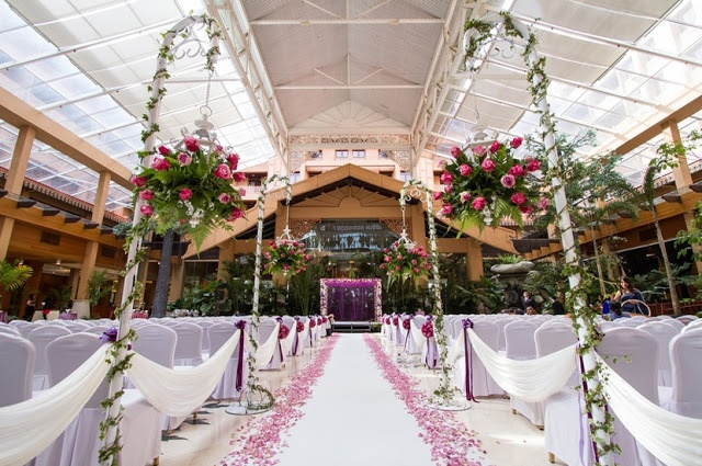 Wedding Venue: Indoor garden at the Royal Chulan