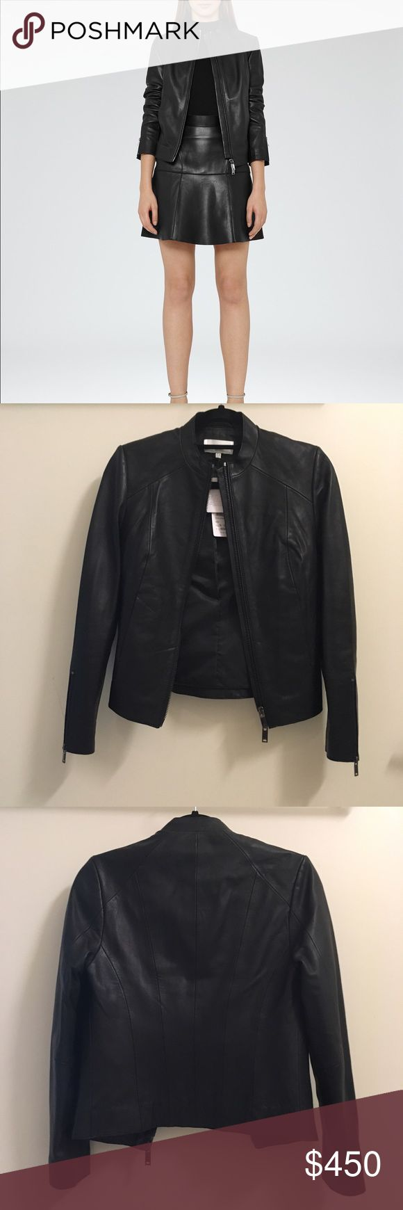 NWT Reiss Leather Jacket Never worn! Reiss Jackets & Coats