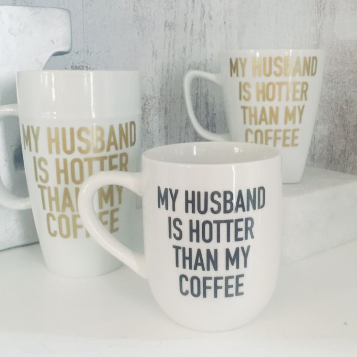 My Husband Is Hotter Than My Coffee // Fathers Day // Wedding Gift  // Couples Coffee Mugs  // Newlywed Mug // Couples Gift by ForeverYoungCo on Etsy