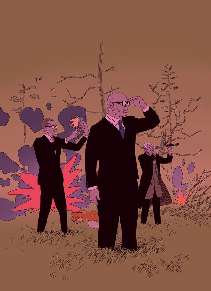 Illustration by Marko Turunen for Yliopisto magazine, 2015