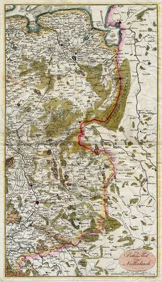Noord Oost Nederland 1730 Petermann