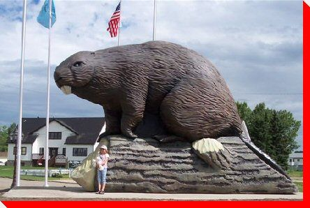 World's Largest Beaver, beaverlodge, alberta