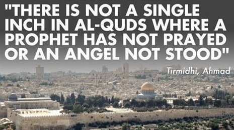 Al-Quds is Arabic for City of Jerusalem; also, known as Baitul-Maqdis meaning The Noble, Sacred Place. Amazing to know that every inch in Jerusalem was prayed on by Prophets (pbut) and angels. Beautiful!!! #SavePray for #PALESTINE ♥