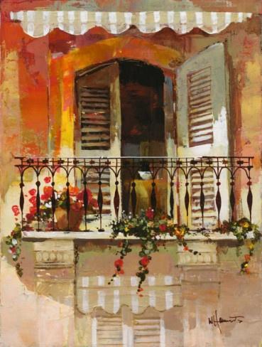 Balcony I Art Print - Willem Haenraets