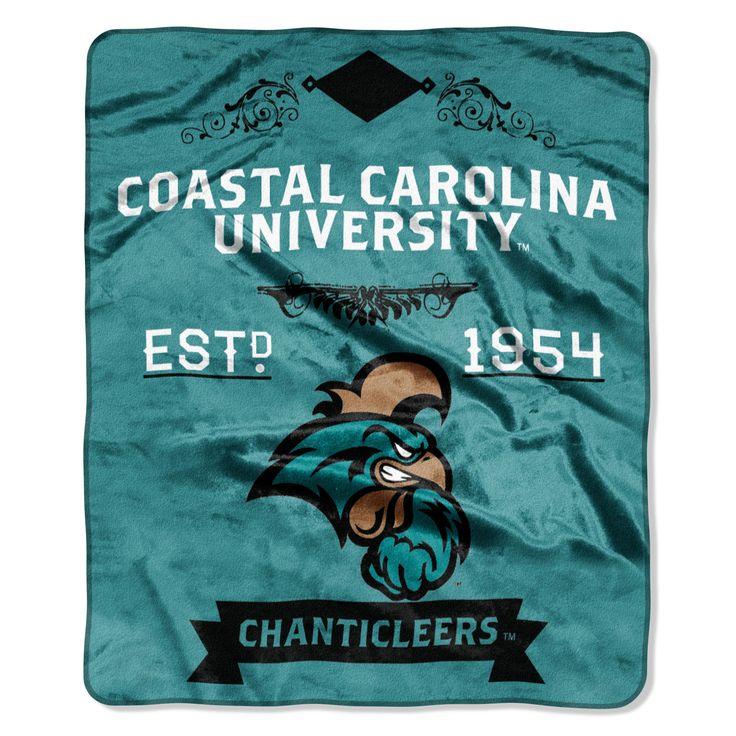 "Coastal Carolina College Label 50""""x 60"""" Raschel Throw"