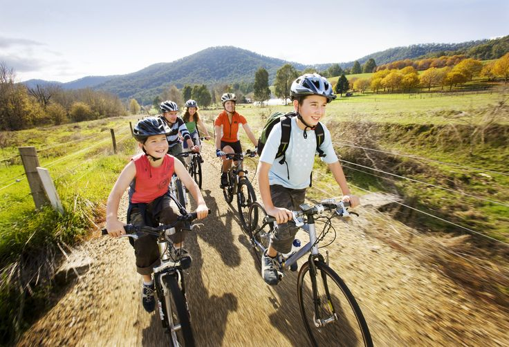 Murray to Mountains Rail Trail. Great for families.