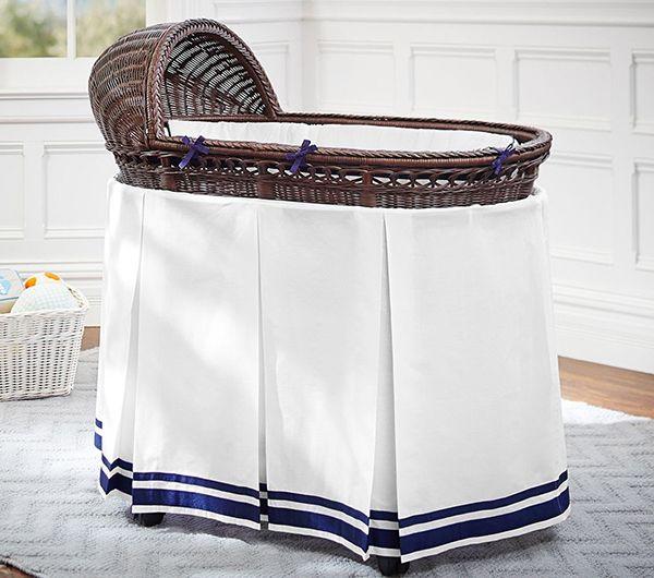 Pottery Barn Kids Bassinet pleated bed skirt