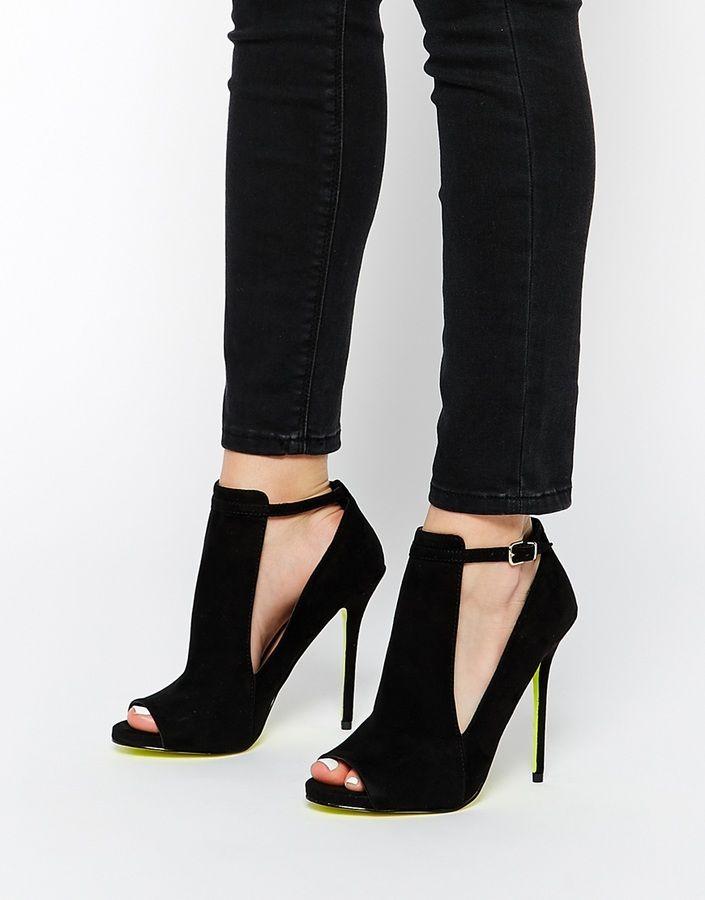 Carvela Glance Cut Out Black Heeled Shoes
