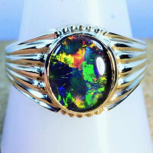 49 best Opal rings Mens images on Pinterest Australian opal