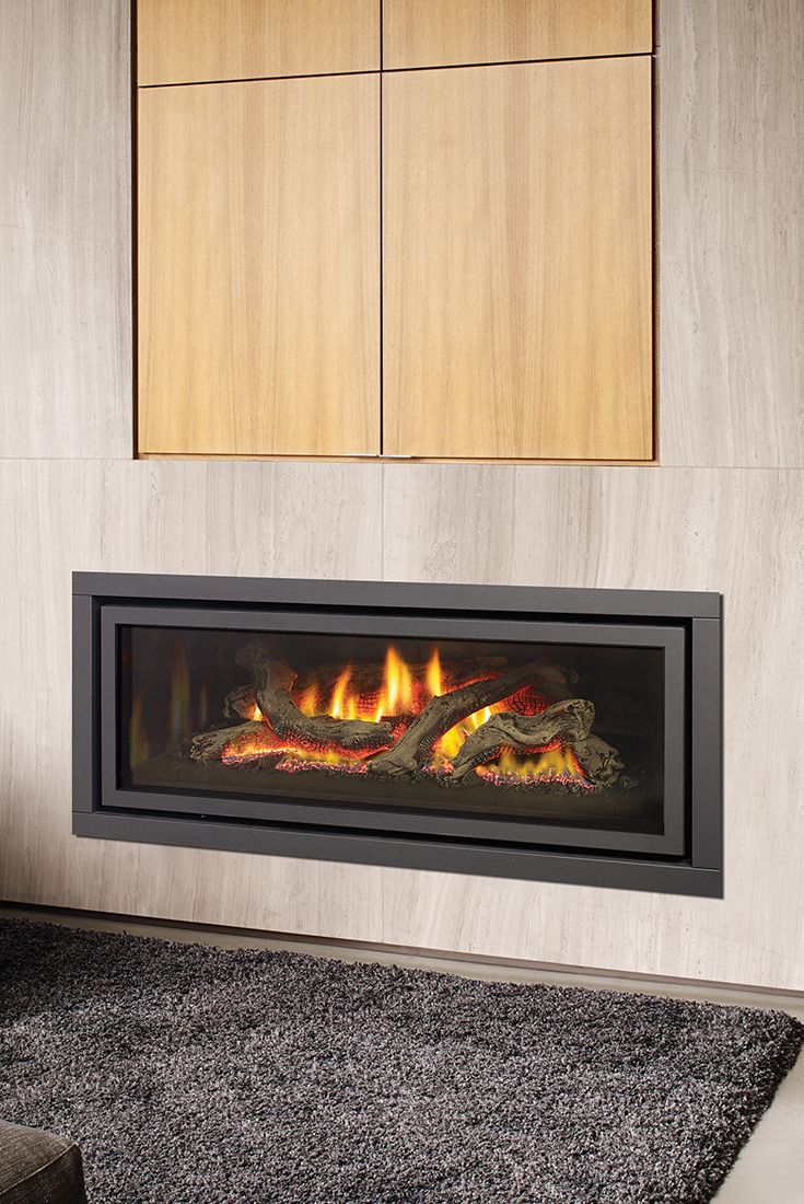 modern gas pin design inserts fireplace