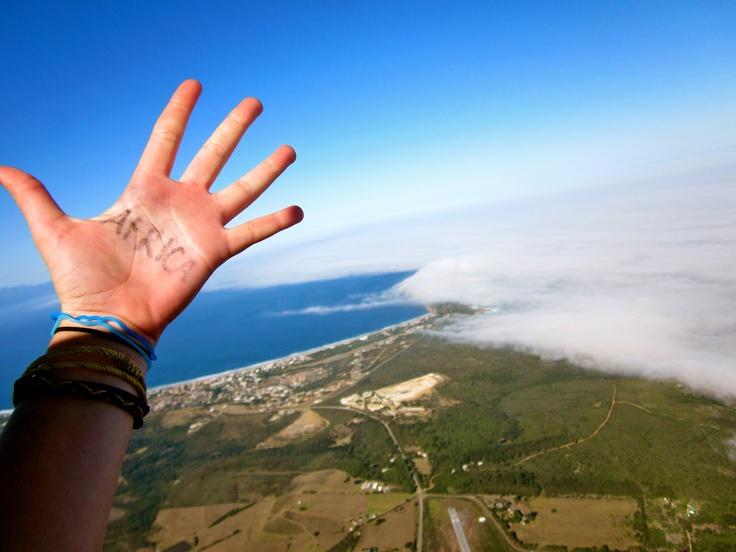 skydive. plettenberg bay, south africa