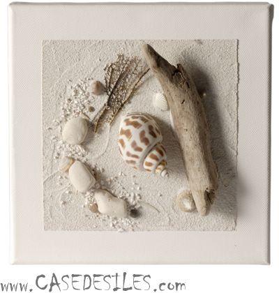 Tableau relief bois flotte à Prix Discount : Tableau relief pêche miraculeuse 20cm2 blanc