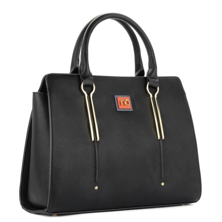 Fekete Nobo női táska osztás nélküli nagy belső térrel, tartozék vállpánttal. – ChiX Női Cipő- és Táska Webáruház  #bags #fashionbags