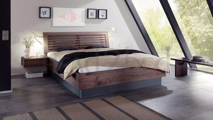 Hasena Practico Barro - Rustic Solid Beech Ottoman Storage Bed