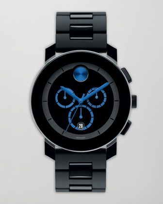 43.5mm Bold Chronograph Watch, Black/Blue by Movado Bold at Neiman Marcus. or something similar to this