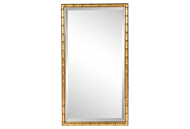 Gold Faux Bamboo Frame Mirror
