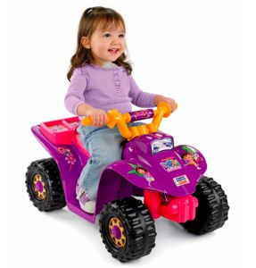 Power Wheels Dora Lil' Quad Review - Who needs Barbie when you can have a positive female role model like Dora instead!? Swiper, no swiping!!