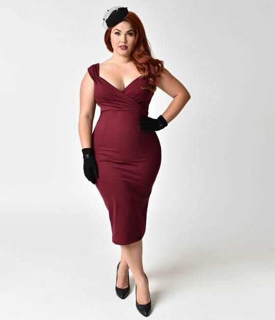 A hue of attitude, gals! A sultry wine red frock from Steady