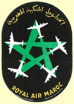 Royal Air Maroc, 50's - Maroc Désert Expérience tours http://www.marocdesertexperience.com