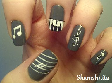 music nails. how have i not thought of this yet?!?!