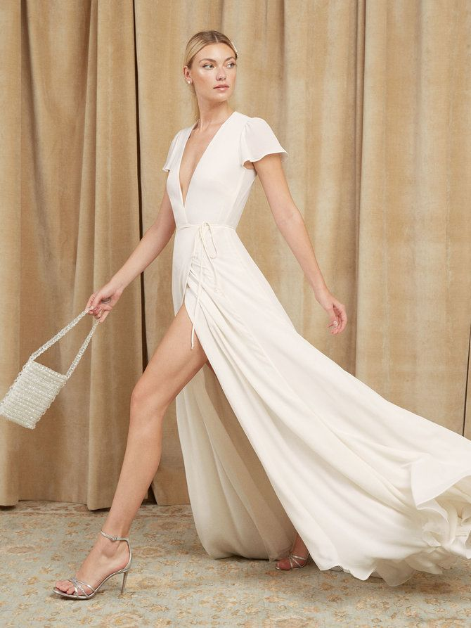 Simple Wedding Dress Wedding Dress Under 400 Cheap Wedding Dress Beach Wedding Dress White Wra Rehearsal Dinner Dresses Cocktail Dress Wedding Dinner Dress