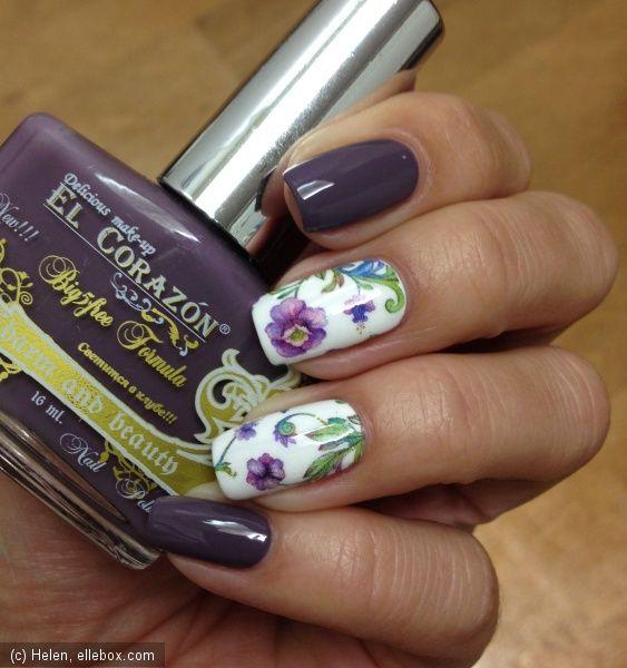 Цветочный маникюр со слайдерами Pink Up / Лаки-свотчи: дизайн ногтей, отзывы о лаках / ElleBox