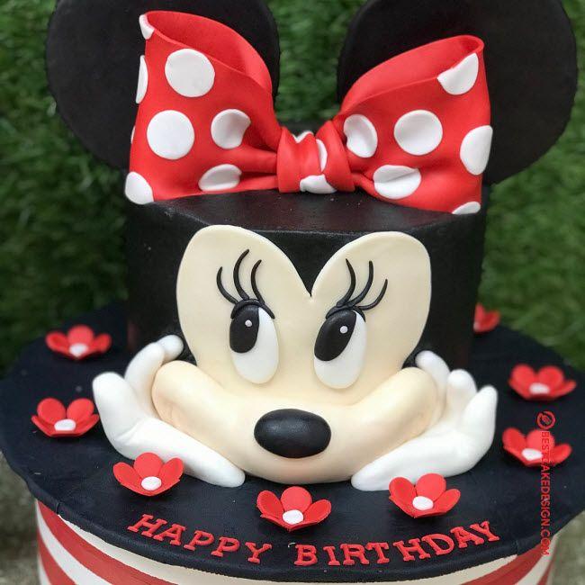 50 Minnie Mouse Cake Design Cake Idea October 2019 Minnie Mouse Cake Minnie Mouse Cake Design Minnie Mouse Birthday Cakes