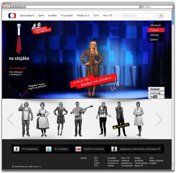 Webdesign - Czech TV´s Stand-up comedy show by Dominika Gorecka, via Behance