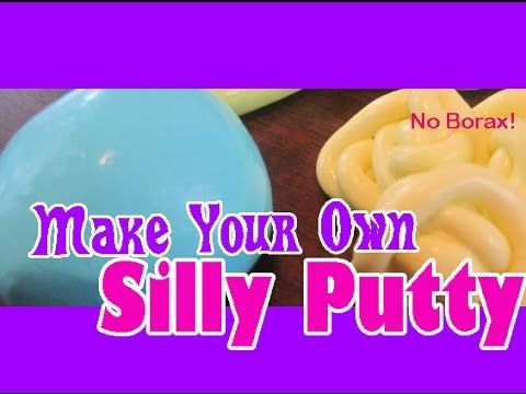 HOW TO MAKE SILLY PUTTY WITHOUT BORAX - YouTube with less glue, more starch this mide make a good melting snowman toy