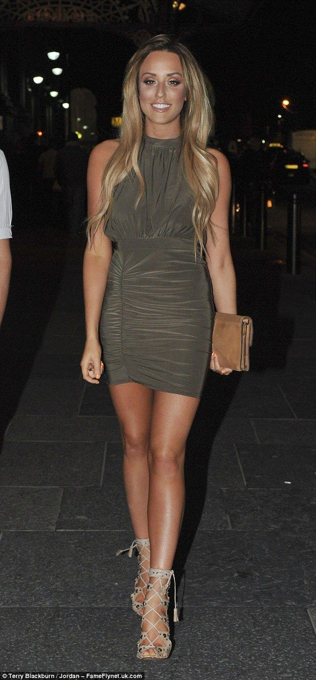 Looking good: Charlotte Crosby showcased her incredible figure during a night out in Newcastle on Saturday
