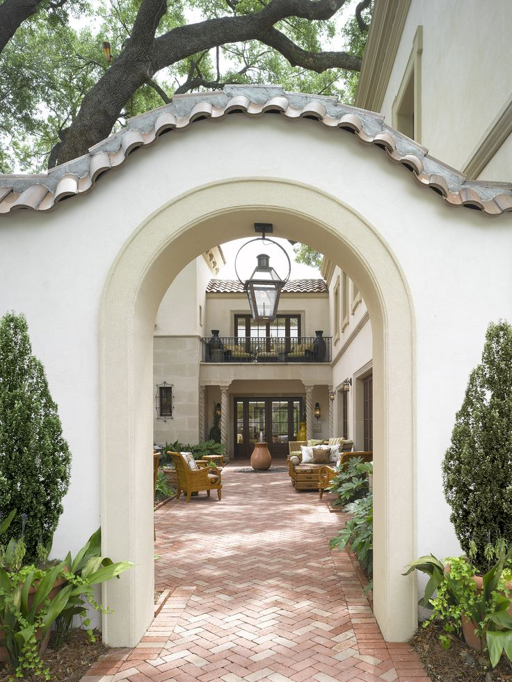 159 best images about spanish colonial revival courtyard for Spanish style exterior