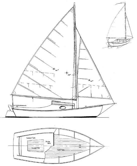 Meadow bird daysailer camp cruiser boat plans boat for Table design yacht