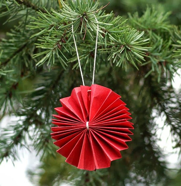 Serious Whims: Paper Fan Flower Ornament