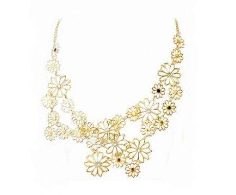 Vintage náhrdelník vodopád kvetov #vintage #vintagejewelry #womanology